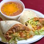 Burrito and beans