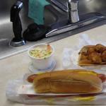 Scallop Roll & Foot Long Hot Dog