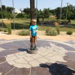 standing on geographic center of US