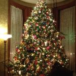 Front parlour tree with authentic Victorian decorations