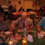 Our Marine honoree having dinner