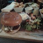 My meal, burger & Chips