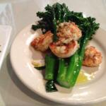 Broccoli with shrimp