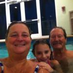 At the inside pool