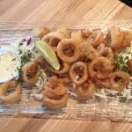 Calamari with key lime sauce