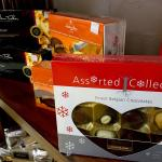 Assorted imported chocolates available to purchase for Christmas