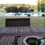 Terraza al parque y piscina