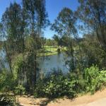 View from 2nd Floor Honeyeater Block (golf course over water)