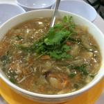 Fish maw soup with crab meat