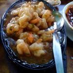 sizzling shrimps sze chuan style