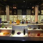 many art objects of glass