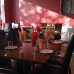 Inside our contemporary Restaurant