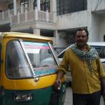 Neem, a kind and helpful autorickshaw driver. He can be booked through Bansi.