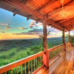 Sunset from upper balcony