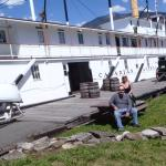 Outside the  SS Moyie