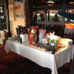 The White Elephant gift table