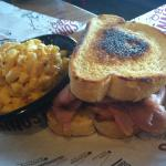 Sliced Pork Sandwich with Side of Mac 'n Cheese