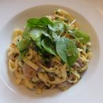 Tagliatelle with Wild Mushroom Sauce and Truffle Oil