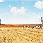John Murray Painting on the way into Bourke
