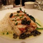 Swordfish with lemon caper sauce