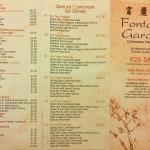 Takeaway menu, December 2015