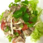 "The yummy beef salad ""Yum Neur Yang"""