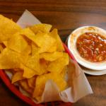 Chips and fresh salsa at Tequila, Des Moines