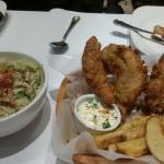Salad and Fish & Chips