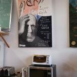 Posters of local theatrical events and concerts