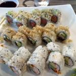 3 sushi rolls plus salad and miso soup