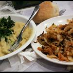 Purè di fave e cicoria - cipolle gratinate al forno