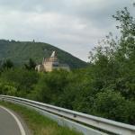 Hotel heintz vanaf het terras en het schtterende kasteel van Vianden .