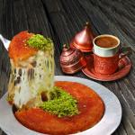 Turkish Kunafa And Turkish Coffee