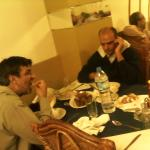 I with Ali Jessani having dinner