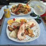 Lobster with gin and tonic!