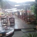 Área externa do restaurante.