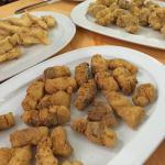 frituras de adobo, lenguado y hueva