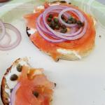 Everything bagel with lox