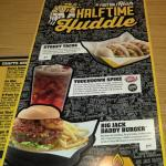 Menu pages from buffalo wild wings