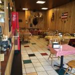 Casual restaurant interior.