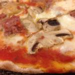 mmmm mushroom and pork pizza