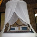 King-sized bed with a canopy that works!