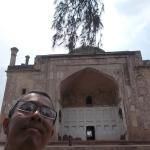 In front of the tomb building