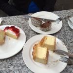 Terrible strawberry tart, average galaktoboureko, rich rum ball