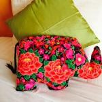 Loved the elephant pillows on the bed
