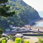 View over Lynmouth from lookout