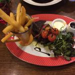 Fillet steak - Medium Rare - perfect.
