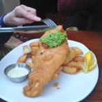 Beer Battered Fish and Triple Cooked Chips with Mushy Peas and Tartare Sauce