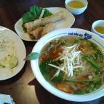 Grilled Shrimp Noodle soup