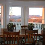 Kitchen table with wonderful views and an amazing breakfast created by Ray